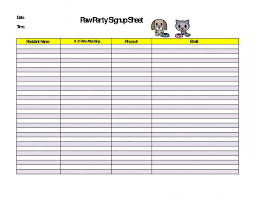 009 Template Ideas Printable Potluck Sign Up Sheet Mailing List