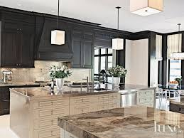 Beautiful Kitchens Magazine Contemporary Cream Kitchen With Geometric Pendants Luxesource