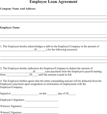 Company Loan To Employee Agreement Employee Loan Agreement Cash Flow Statement Statement