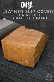 diy storage ottoman. Interesting Ottoman What A Great Way To Bring Storage Ottoman Up Date DIY Leather Slip In Diy Storage Ottoman