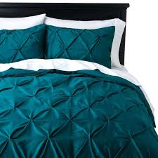 full image for threshold pinched pleat duvet cover set green gingham duvet cover green and white