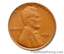 1945 Wheat Penny Value Chart 1945 Wheat Penny Error Wheat Photos And Descriptions