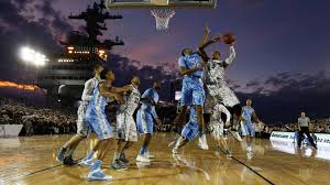 1920x1080 college basketball game on an aircraft carrier hd wallpaper