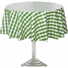 round outdoor tablecloth inspirational ottomanson checd green vinyl with non woven backing 55 inch of round