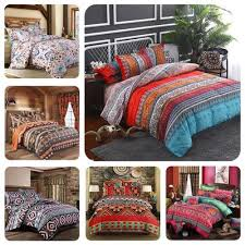 bohemian quilt cover indian reversible