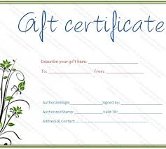 Free Online Gift Certificate Maker Template Free Printable Gift For