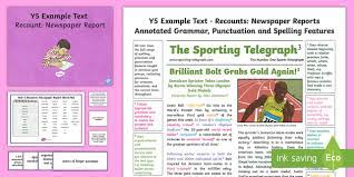 On download, you'll receive multiple resources to help ks2 children with their newspaper article writing. Newspaper Report Example Ks2 Twinkl Resources