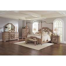 coaster ilana 5 piece california king mirrored canopy bedroom set