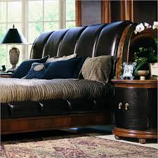 upholstered leather sleigh bed.  Leather How To Choose An Upholstered Headboard Or Bed 3  3 In Leather Sleigh