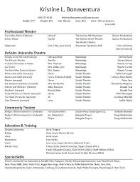 Acting Resume Template Free | Nfcnbarroom.com
