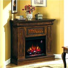 electric corner fireplace built heat surge made fireplaces white