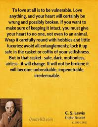Cs Lewis Love Quotes Interesting CS Lewis Quotes QuoteHD