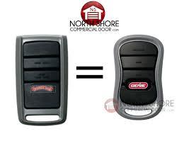 genie garage door remotes how