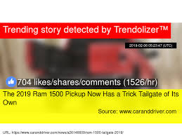 The 2019 Ram 1500 Pickup Now Has a Trick Tailgate of Its Own