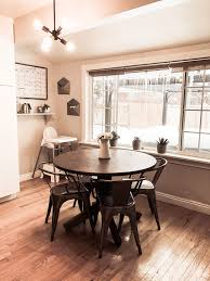 Eat In Kitchen Small Round Dining Table With Small Command Center
