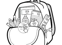 peaceful back to school coloring sheet e9052 back to school coloring pages school supplies coloring page