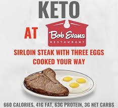 Bob Evans Light Breakfast Menu Keto At Bob Evans Keto Fast Food Keto Restaurant Keto Fast