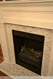 fireplace makeover from craftsman to traditional with tile toned down 2