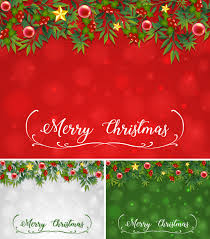 Background Template With Christmas Theme Vector Free Download