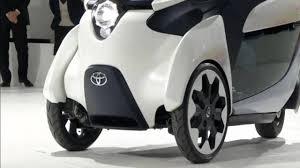 Toyota FV2 3 wheeled color changing concept car at japan motor ...