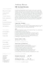 Sample Resume Mba Hr Sample Resume Hr Assistant 2 Sample Resume