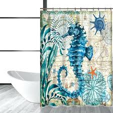 sea turtle shower curtain sea turtle waterproof shower curtain octopus home bathroom curtains with hooks polyester