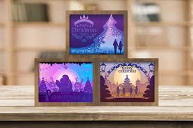 Diy christmas svg cut files for cricut, silhouette, scanncut, and more. Combo 3 Templates Christmas 4 Light Box Graphic By Lightboxgoodman Creative Fabrica