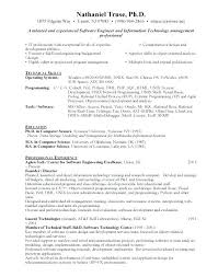 Free Resume Software New Sample Resume Format For Software Engineer Andaleco