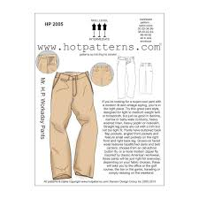 Pants Patterns Delectable Hot Patterns Mr HP Workaday Pants Pattern Discount Designer
