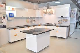 sleek modular kitchen designs. l shaped classic cut handle pu finish modular kitchen sleek designs h