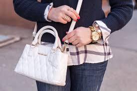 vera bradley white leather cross mini satchel bag