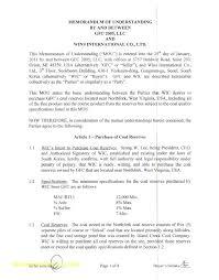 Free Sample Memorandum Of Understanding Template Delightful