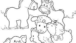 Printable Farm Animal Coloring Pages Baby Farm Animals Coloring