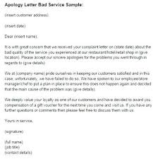 apology to customer for poor service complaint letter template for poor customer service