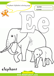 Elephant Alphabet coloring kids under 7 alphabet on e sound worksheet