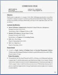 Model Mba Fresher Resume Finance  freshers cv format  beautiful
