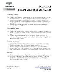 Sample Job Objectives In Resume Objectives Resume Sample Job Resume