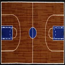 rug area rugs 100 nylon carpet fun time two sizes basketball court multi color