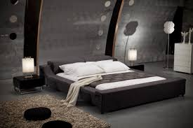 futuristic furniture design. Terrific Futuristic Furniture With Bedside Table And Lamps Also Brown Rug For Modern Bedroom Design