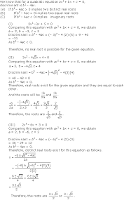 chapter 4 quadratic equations excercise ex 4 4 solution 1