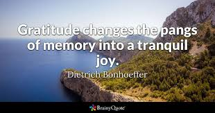 Bonhoeffer Quotes Fascinating Gratitude Changes The Pangs Of Memory Into A Tranquil Joy