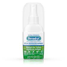 Benadryl Extra Strength Anti-Itch Cooling Spray, Travel Size, 2 fl ...