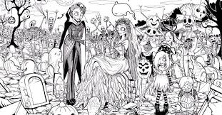Small Picture Adult Halloween Coloring Pages Gekimoe 22298