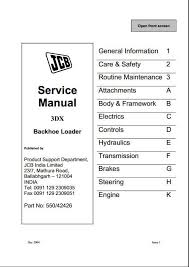 jcb dx backhoe loader service repair manual a repair manual store instant jcb 3dx backhoe loader service repair manual this manual content all service repair maintenance troubleshooting procedures for jcb