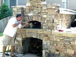 backyard pizza oven brick build outdoor fireplace plans homemade