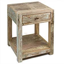 stripped teak side table india antiquing wood furniture