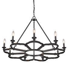 saxon 9 light aged bronze chandelier