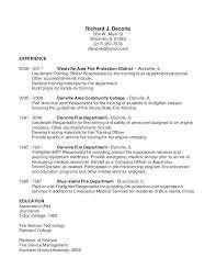 Fire Lieutenant Resume Resume Samples Examples Lieutenant Objective ...