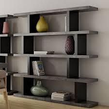 Staggered Bookshelf step high concrete modern bookcase | eurway furniture
