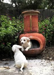 orange clay chiminea outdoor fireplace for patio furniture ideas